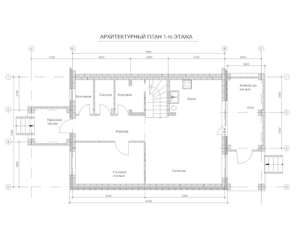Итоговые планировки 1 этаж