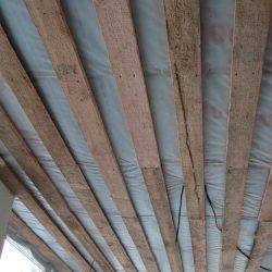 Утеплен потолок террасы