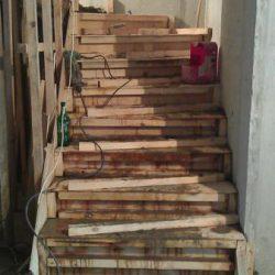 Монтаж лестницы из облегченного железобетона