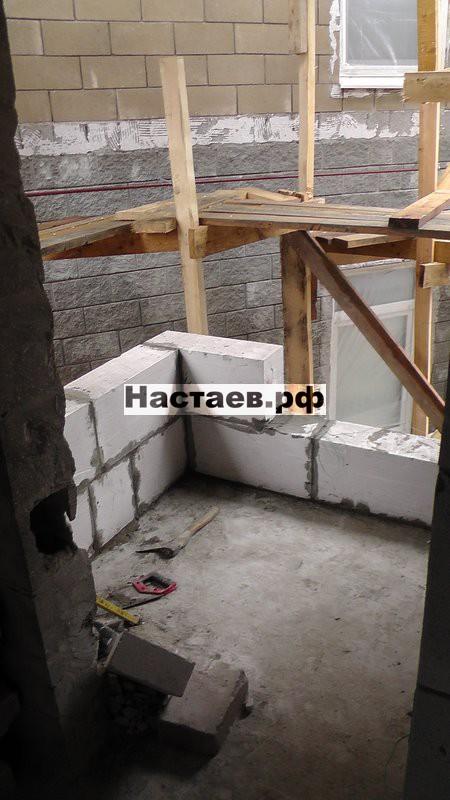 Кладка стен на новом перекрытии