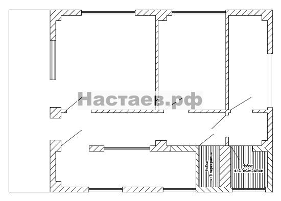 Перегородки двухэтажного гостевого дома