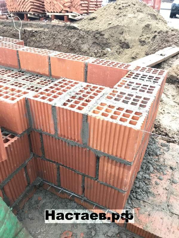 Цепная (однорядная) перевязка кирпичной кладки стен