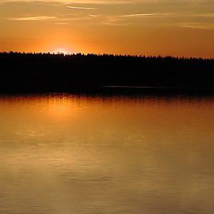 Озеро Круглое. Весна. Закат.