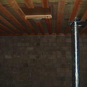 Ремонт таунхауса, потолок второго этажа и лк на чердак, как было
