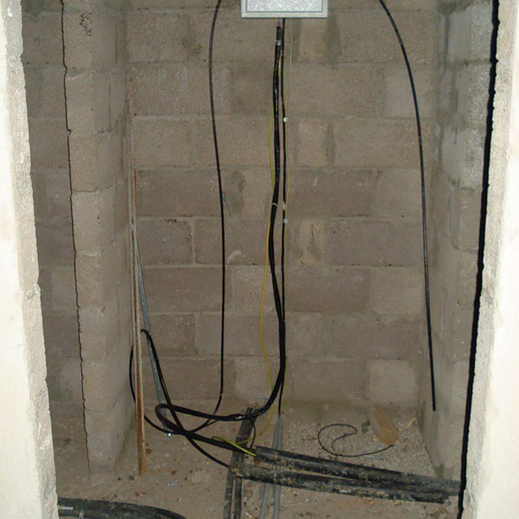 Ремонт таунхауса, электрощит первый этаж, как было