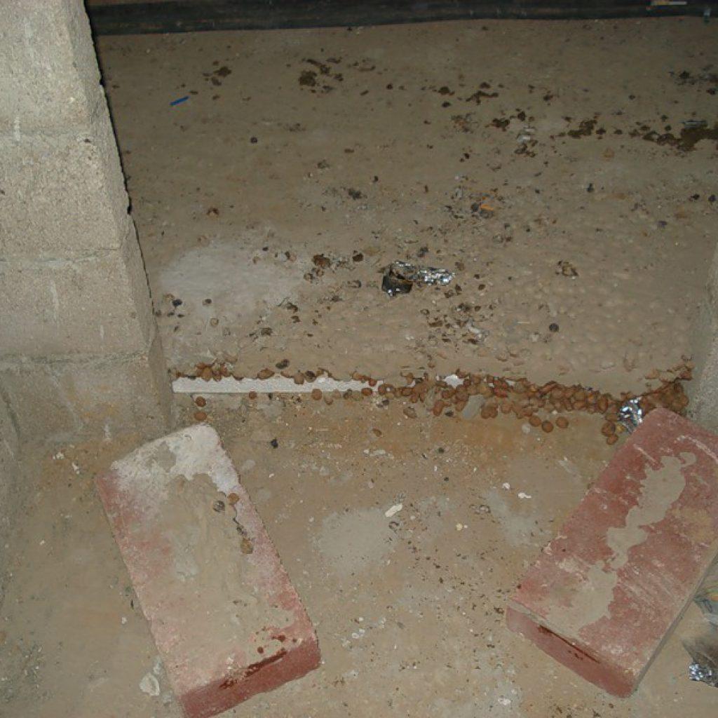 Ремонт таунхауса, утепление пола первого этажа, как было