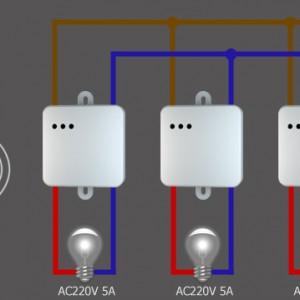Схема подключения трехклавишного радиоканального выключателя