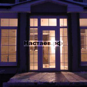 Вечерняя терраса с ламинатом на стенах