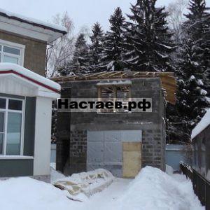 Стропильная система двухэтажного гостевого дома
