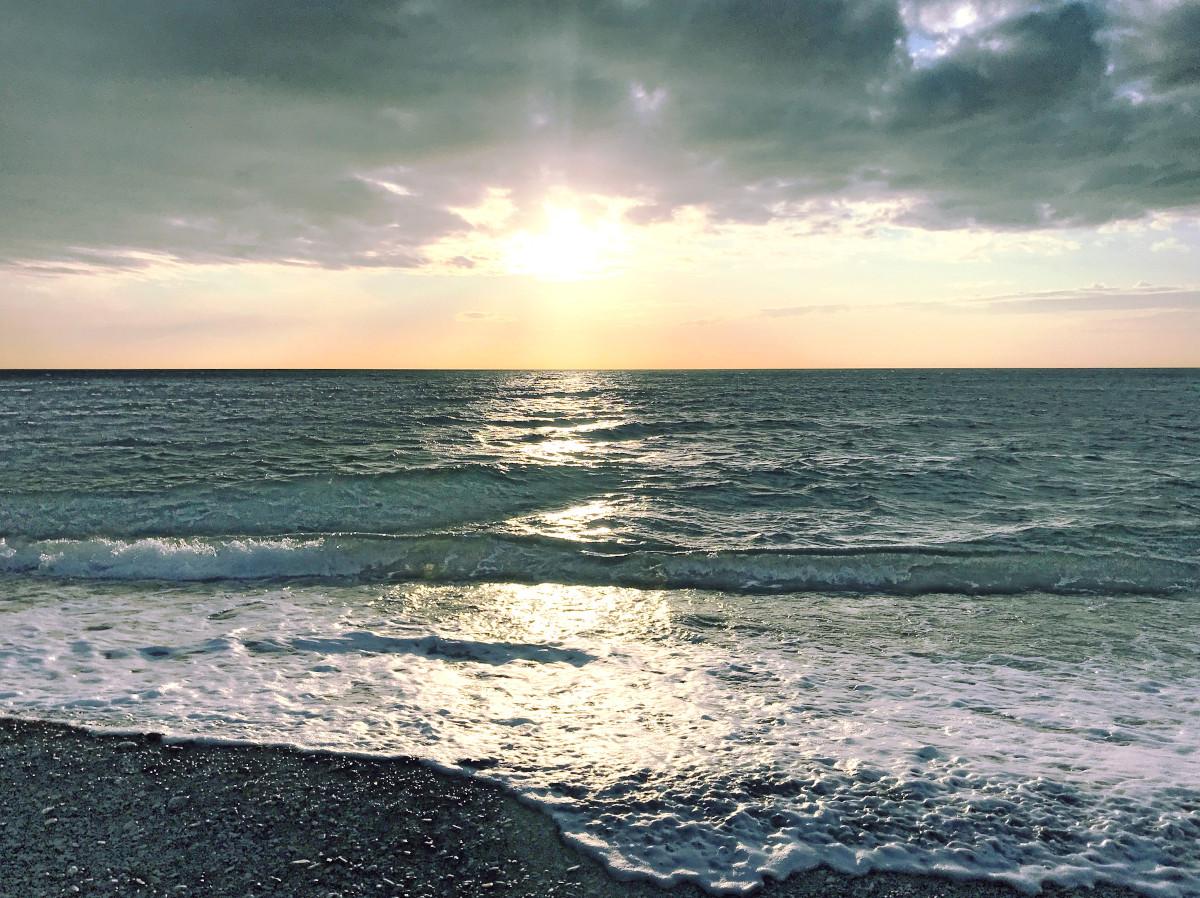 Сукко, пляж, декабрь 2019